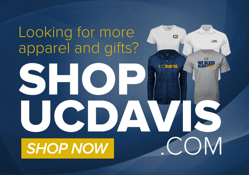 Visit shopucdavis.com for more UC Davis clothing and gifts!