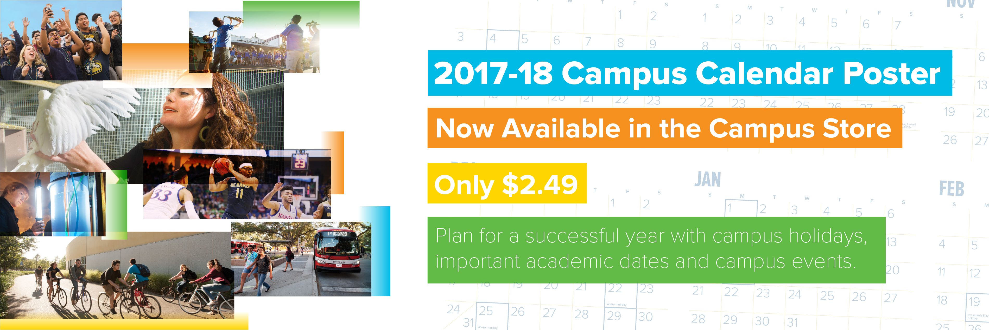 Campus Calendar is now available from the Stores