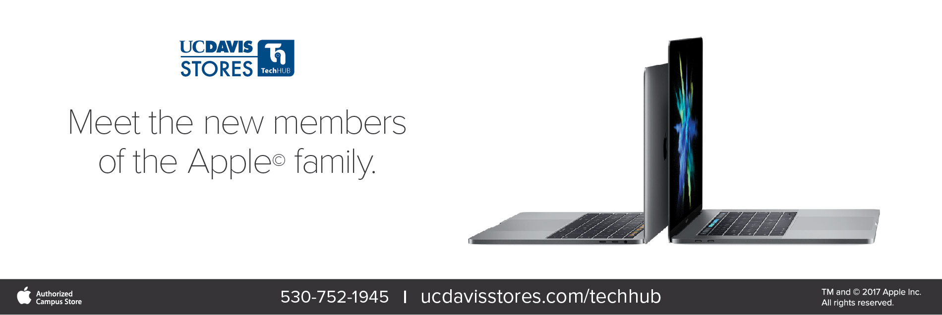 Come meet all of the members of the Mac family at the UC Davis Stores TechHub