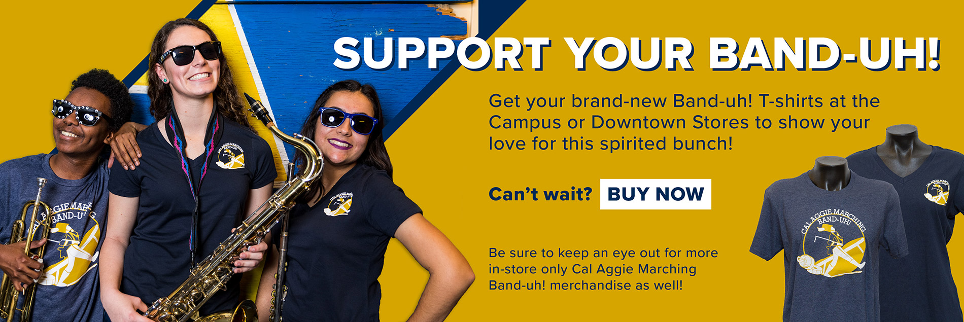 Help support the Aggie Band-Uh!