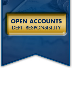 Open Accounts Department Responsibilities.
