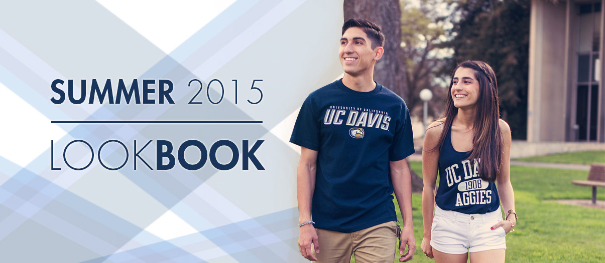 Check out all of the latest UC Davis Gear in our Summer 2015 Lookbook.