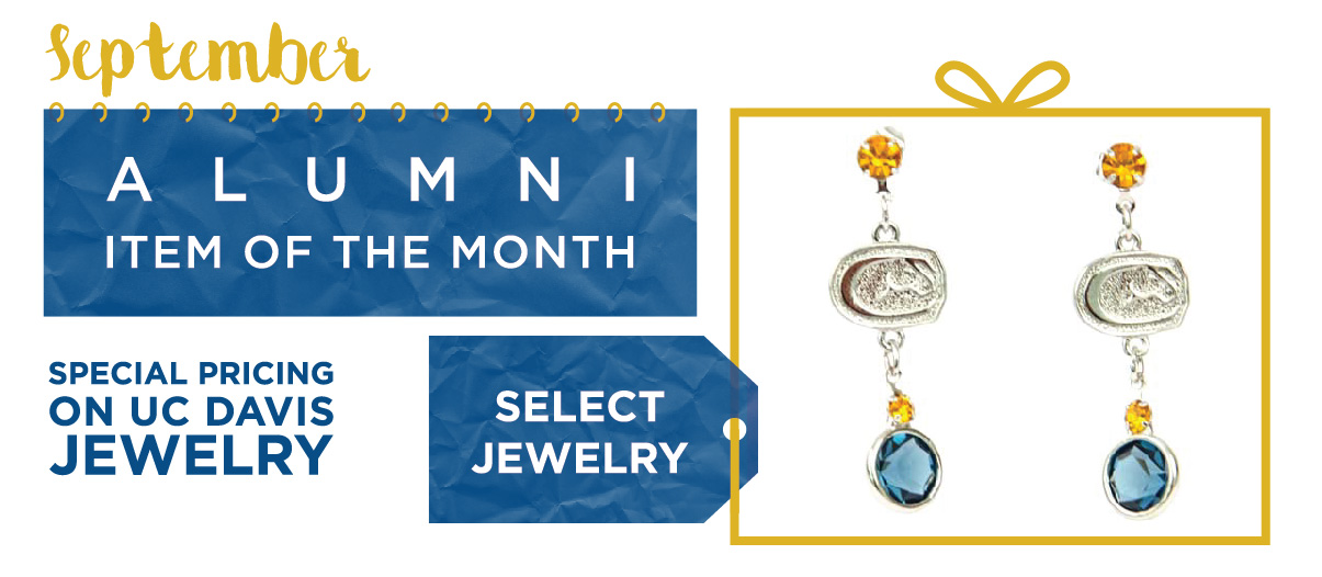 UC Davis Alumni Item of the Month for September 2015. Select UC Davis Jewelry on sale.