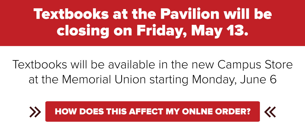 Click here for more info about the Textbooks at the Pavilion closing