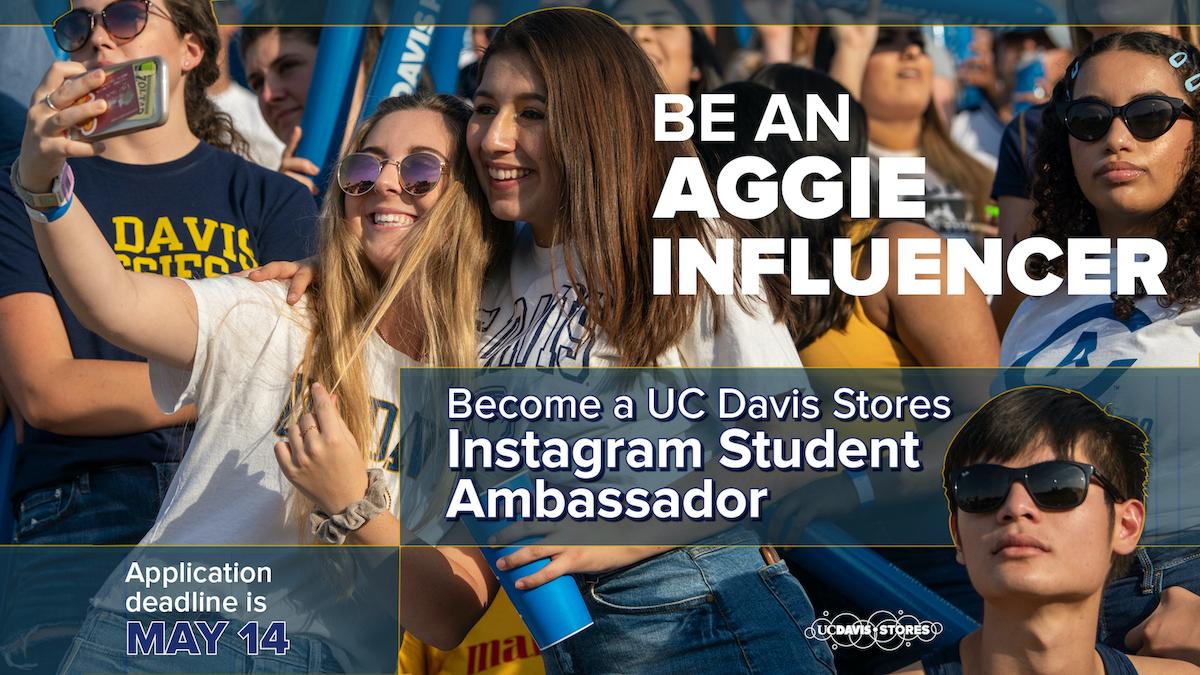 UC Davis Instagram Student Ambassador Banner