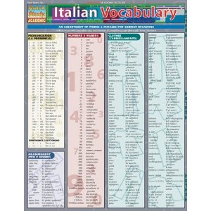 Italian Vocabulary by BarCharts
