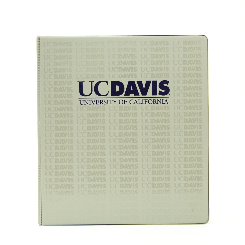 Binder 1 inch Grey UC Davis Repeated