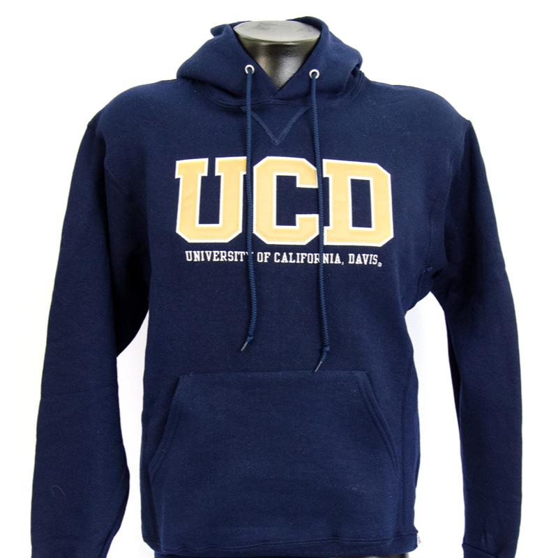 UC Davis Hood UCD Extended Russell Navy