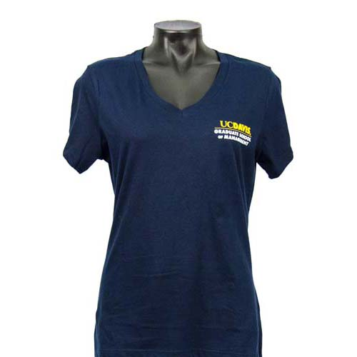 Grad School of Management Women's V-Neck Navy
