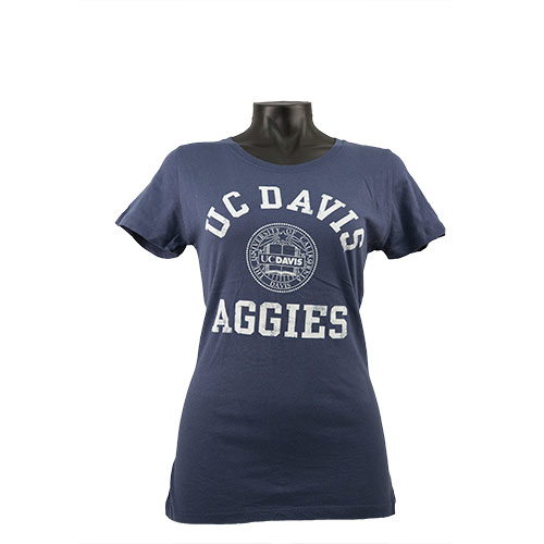 UC Davis Women's Tee Navy Seal
