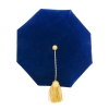Blue Tam with Metallic Gold Bullion Tassel thumbnail