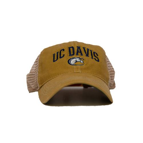 UC Davis Hat Yellow Mesh Back