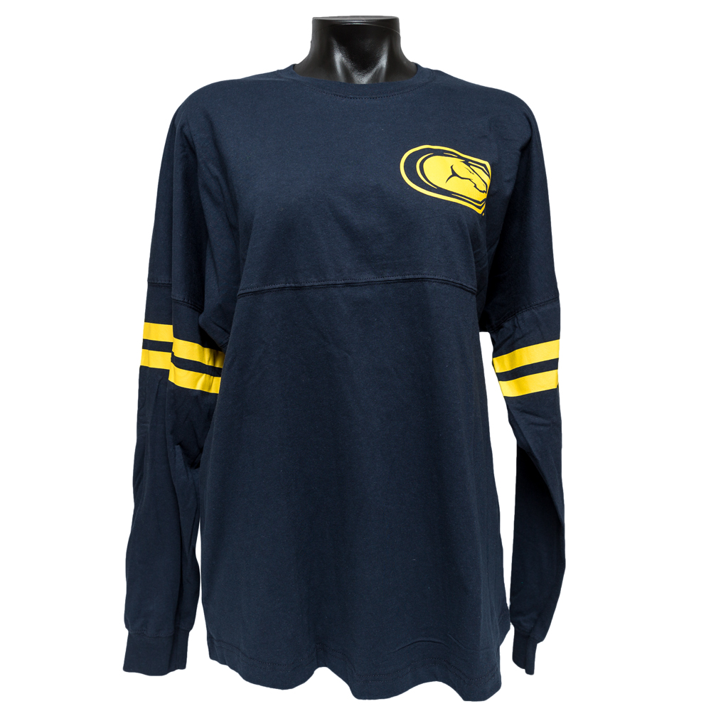 UC Davis Women's Long Sleeve Tee Ra Ra Navy