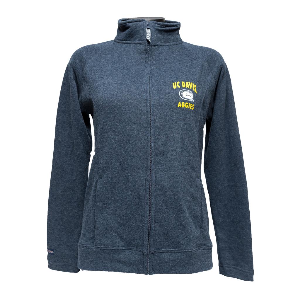 UC Davis Full Zip Sweatshirt Mascot
