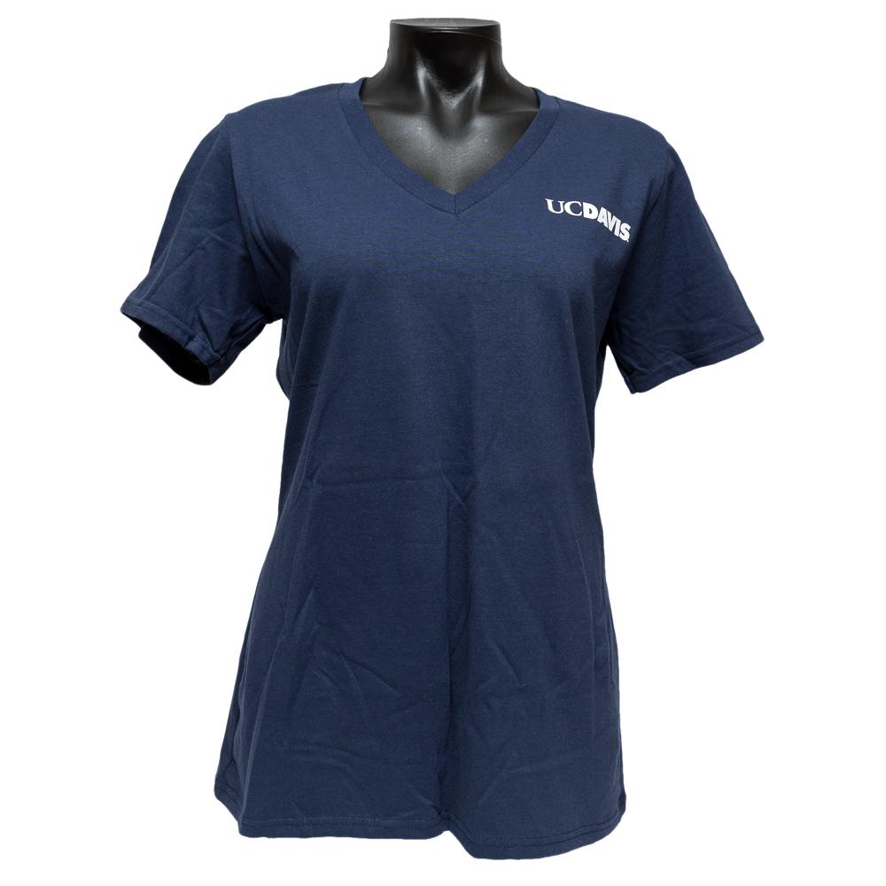 UC Davis Women's V-Neck Navy