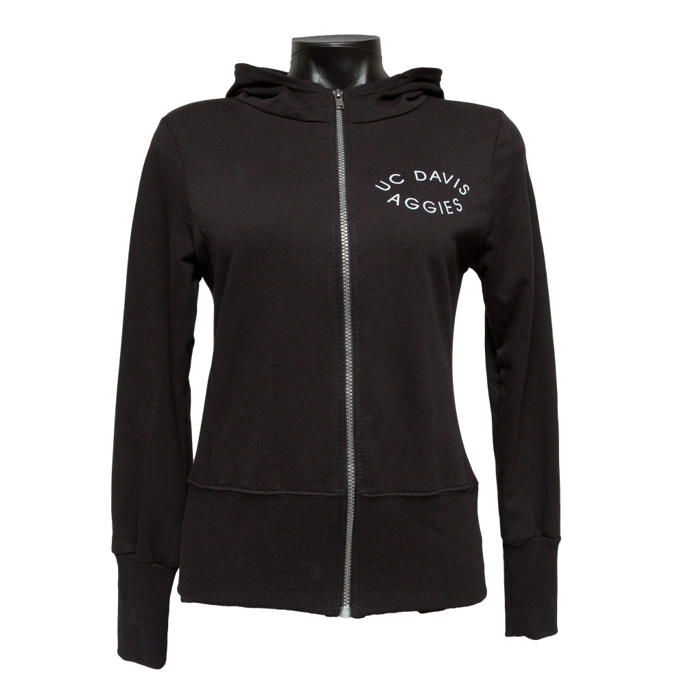 NEW! UC Davis Women's Full Zip Black Aggies