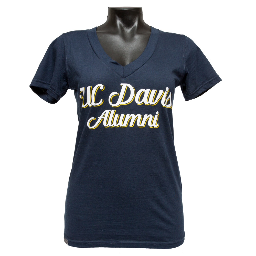 Jansport UC Davis Alumni Women's V-Neck Navy