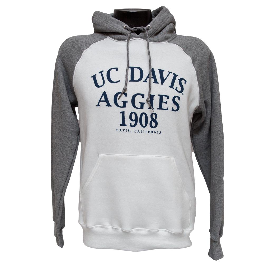 UC Davis Hood White/Oxford Aggies