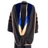 Black Deluxe Doctoral Gown Set with Gold Silk Tassel thumbnail