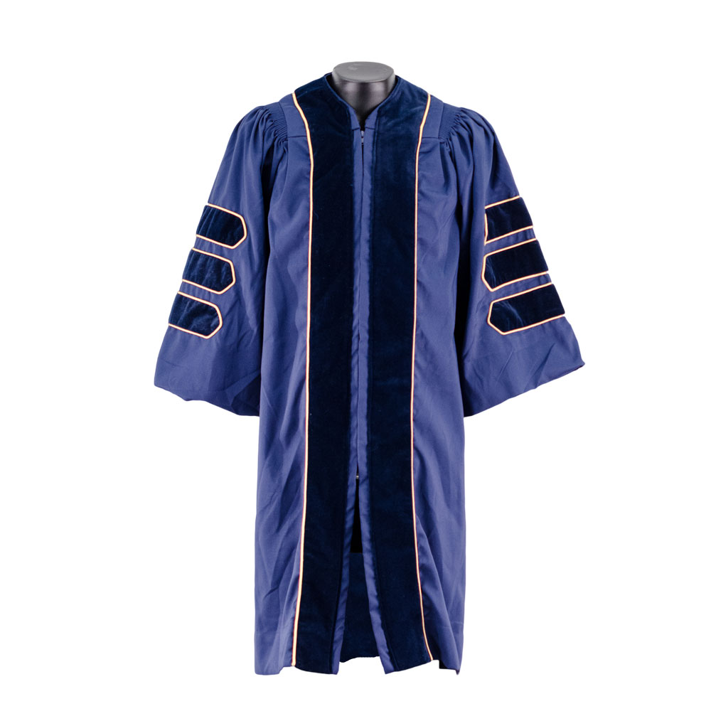 "Doctoral Navy ""Earthgrad"" Set w/ Tam and Gold Bullion Tassel"