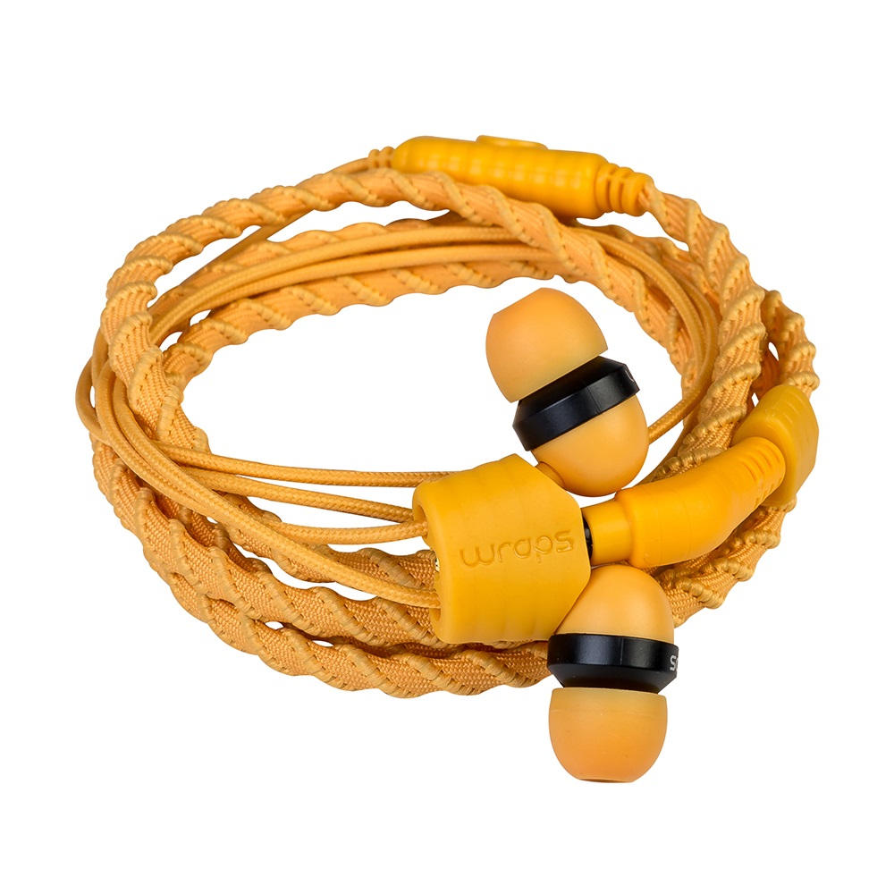 Wrap's Fabric In-Ear HP w/Mic - Orange