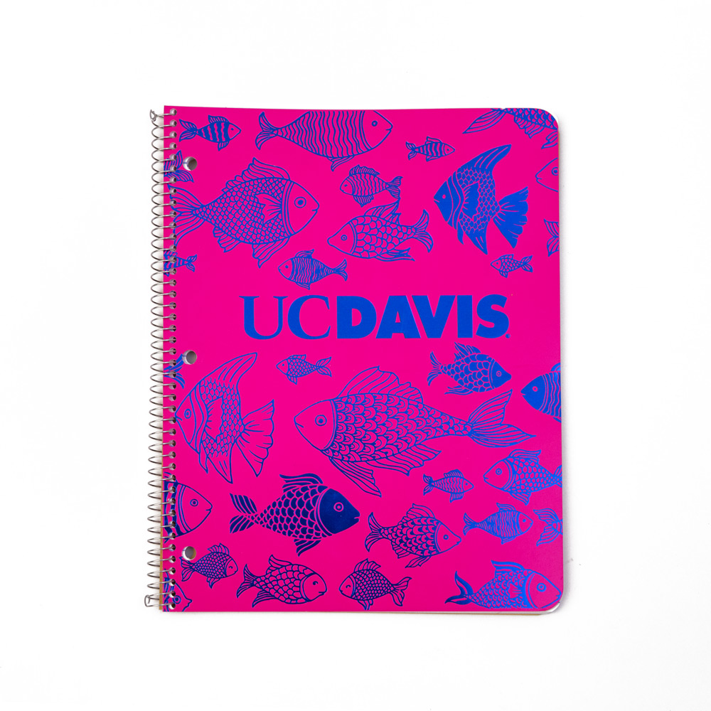 Notebook Spiral Bound 1 Subject Fishes
