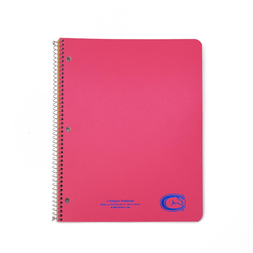 Notebook Spiral 1 Subject UC Davis C-Horse Assorted