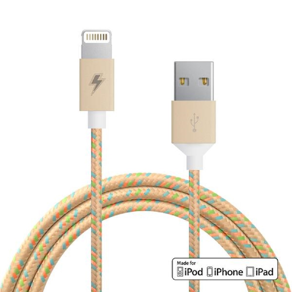 ChargeCords Lightning Cable Gold Dust