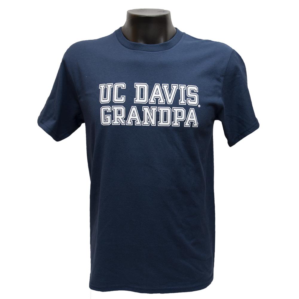 UC Davis T-Shirt Grandpa Navy