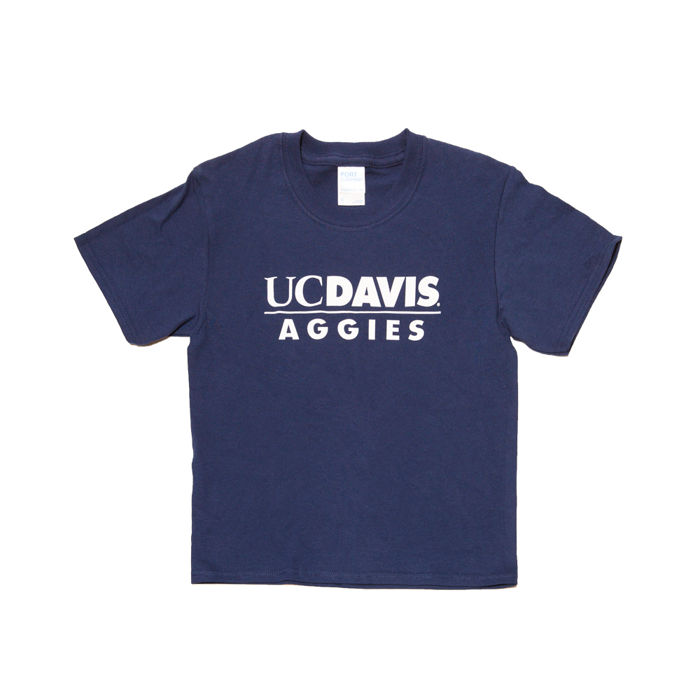 UC Davis T-shirt Children's Youth AO Navy