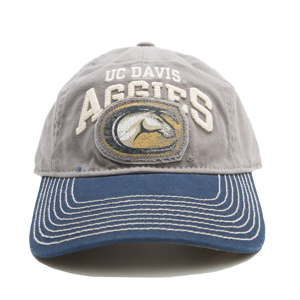 UC Davis Hat Washed Grey Aggies