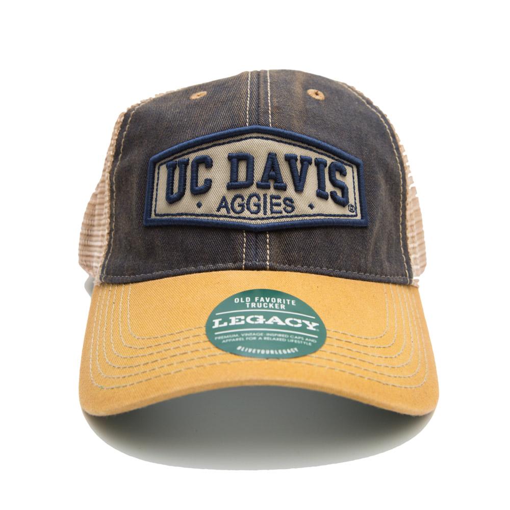 UC Davis Hat Yellow Mesh Aggies
