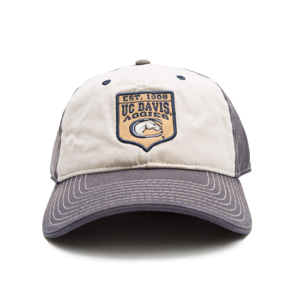 UC Davis Hat Washed Navy White Crest