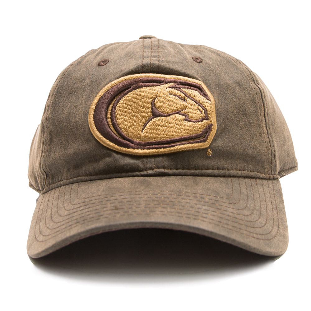 UC Davis Hat Faux Leather C-Horse