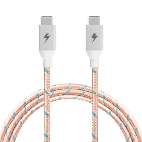 ChargeCords USB C to USB C Rose Gold