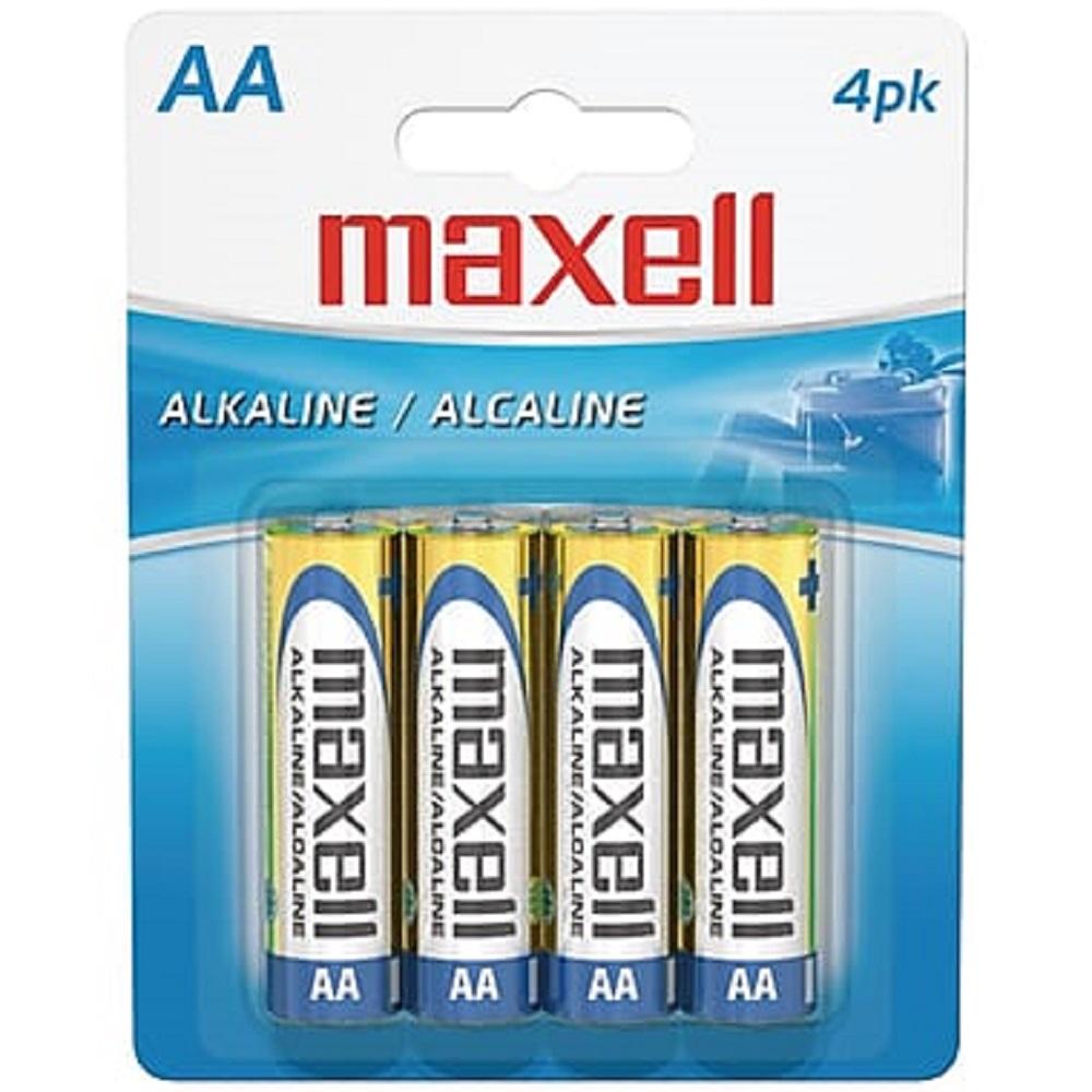 Maxell 4PK AA Batteries