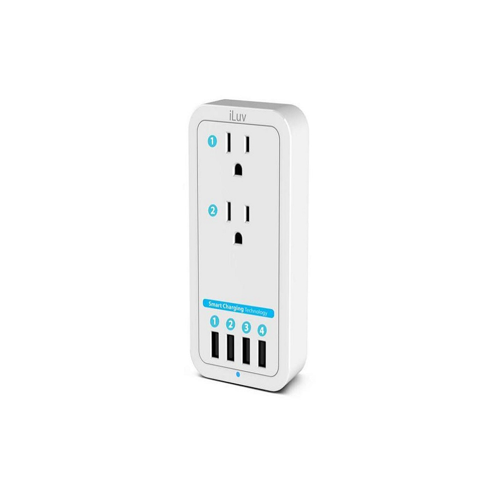 ILUV Rockwall Power 2 Wall Charger White