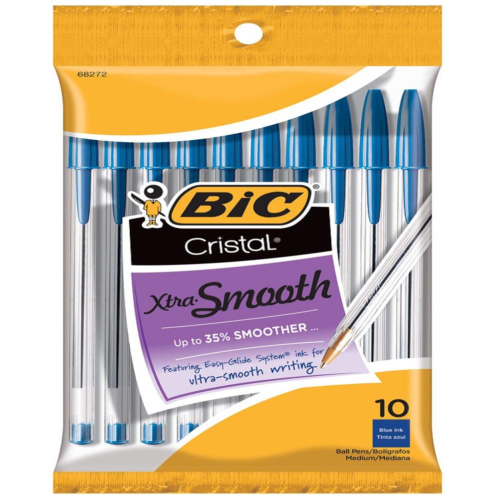 BIC® Cristal® Xtra Smooth Ball Pen 10pk Blue