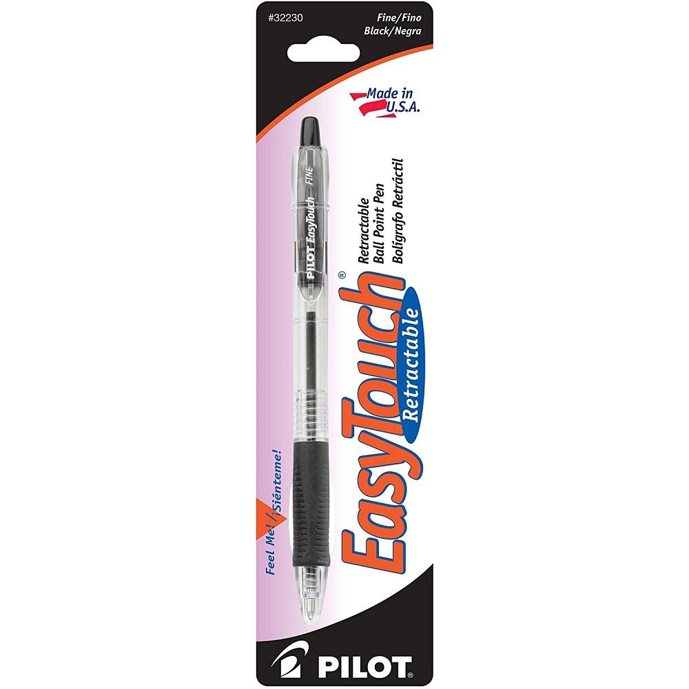 Pilot EasyTouch Retractable Ball Point Pen Black Fine Point