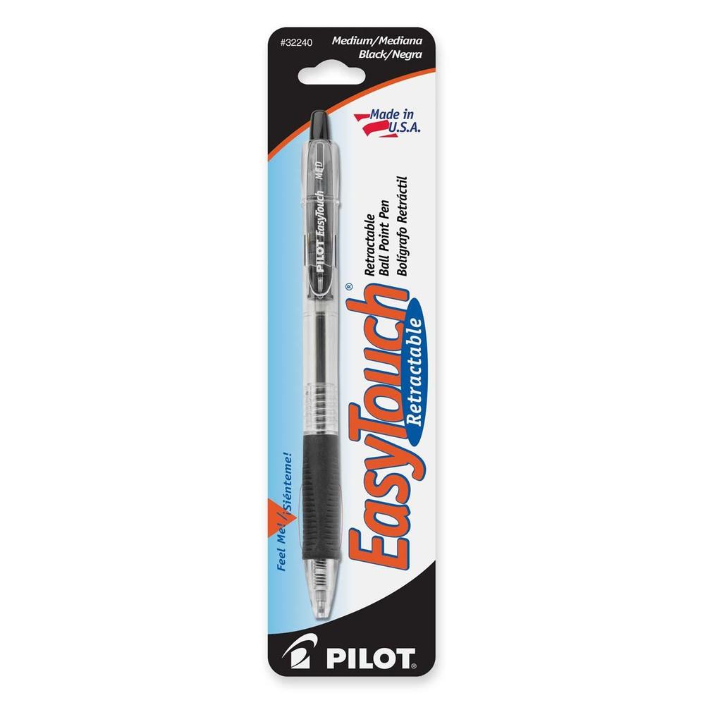 Pilot EasyTouch Retractable Ball Point Pen Black Med. Point