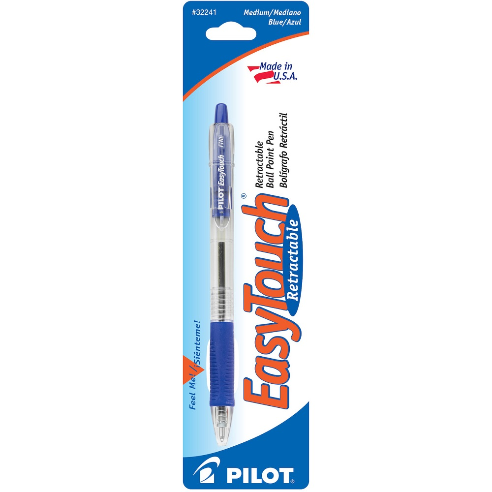 Pilot EasyTouch Retractable Ball Point Pen Blue Med. Point