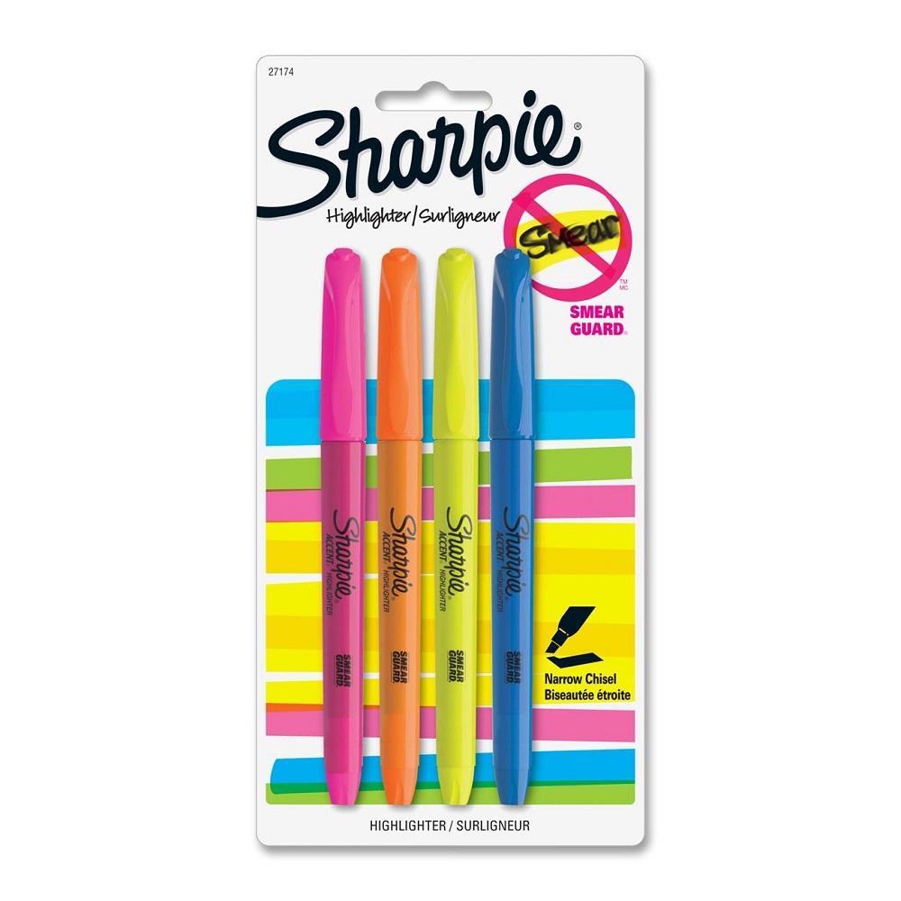 Sharpie Fluorescent Color 4pk. Pocket Highlighters