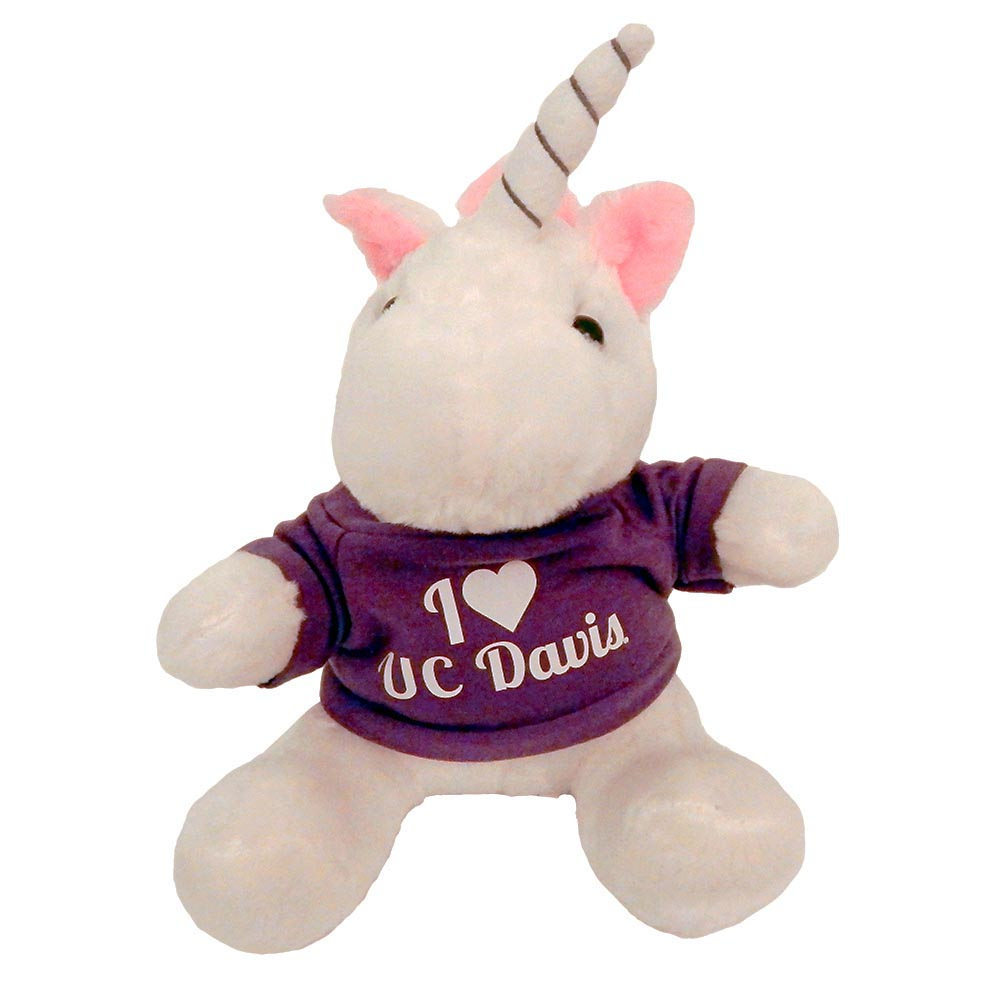 UC Davis Unicorn Plush White