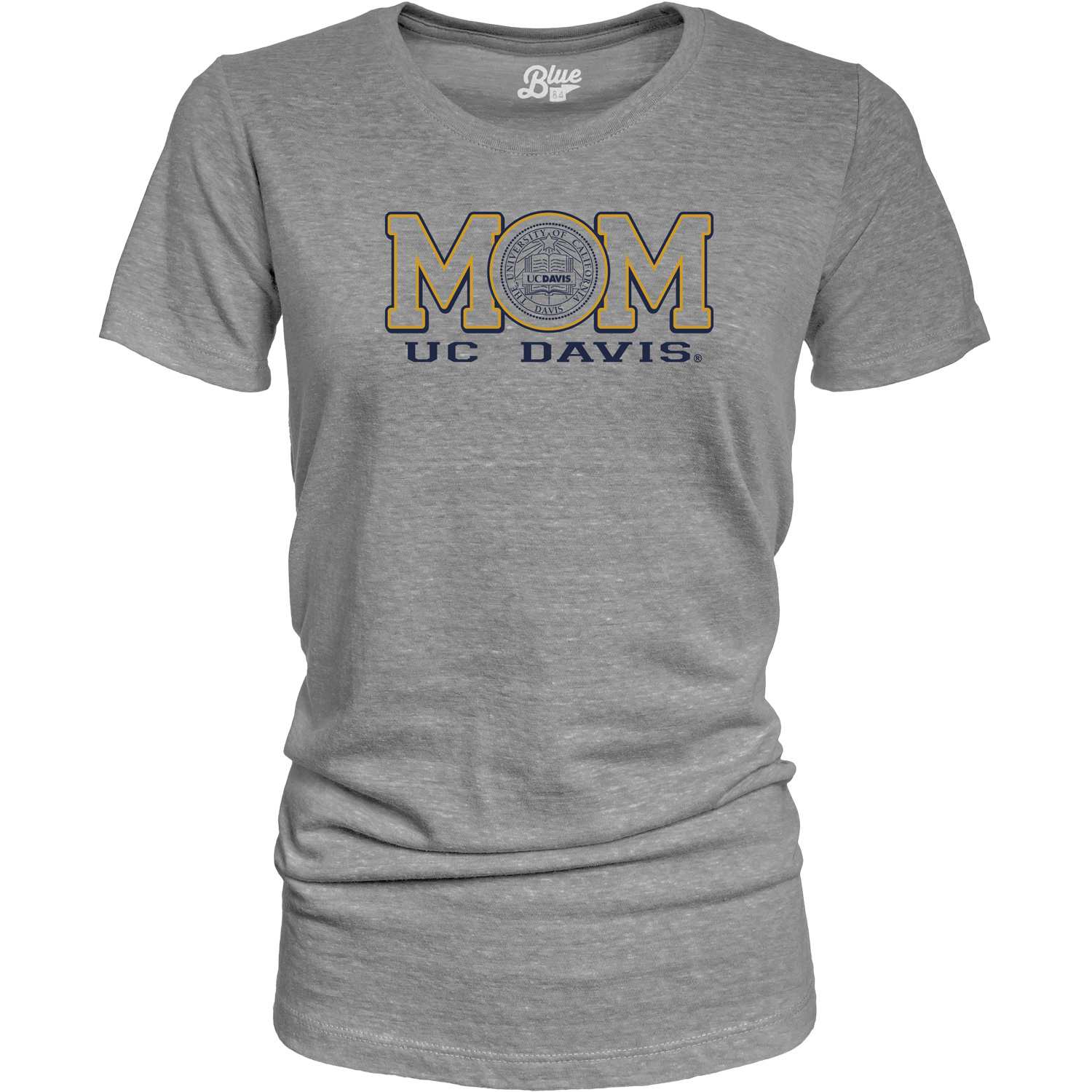 Blue 84 UC Davis Mom with School Seal Graphite