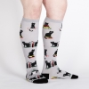 Sock It To Me Booked For Meow Knee High Socks thumbnail