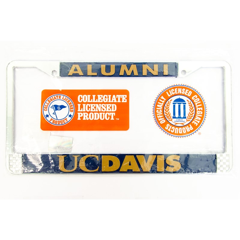 License Plate Frame Alumni Gold