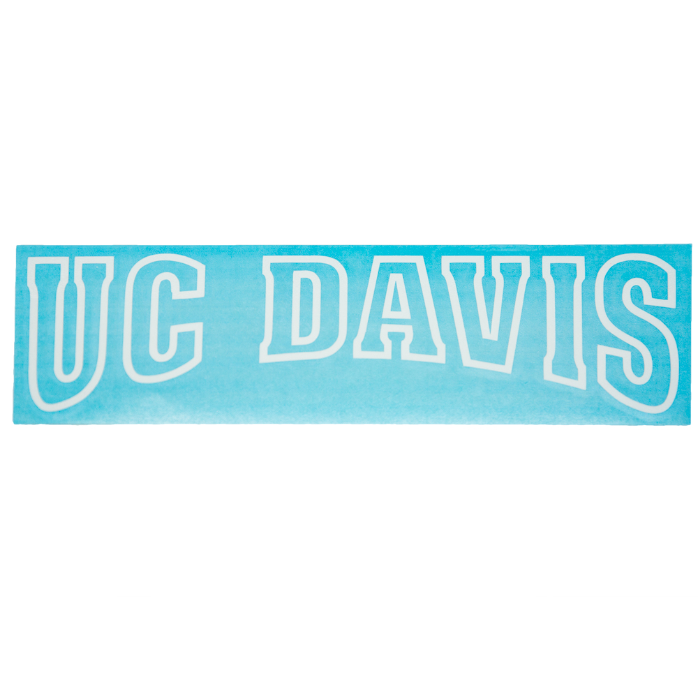 Decal UC Davis Arched