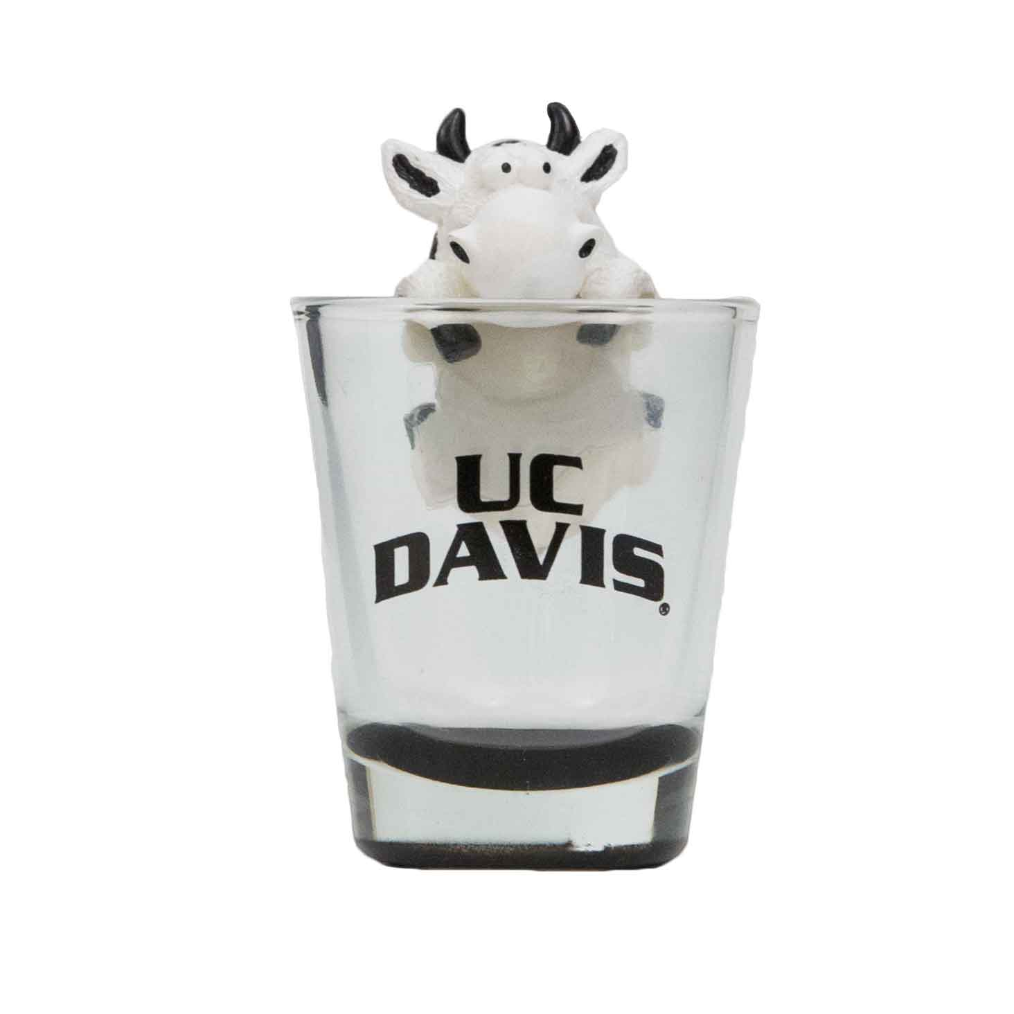 Image For Shot Glass Clear UC Davis Cow