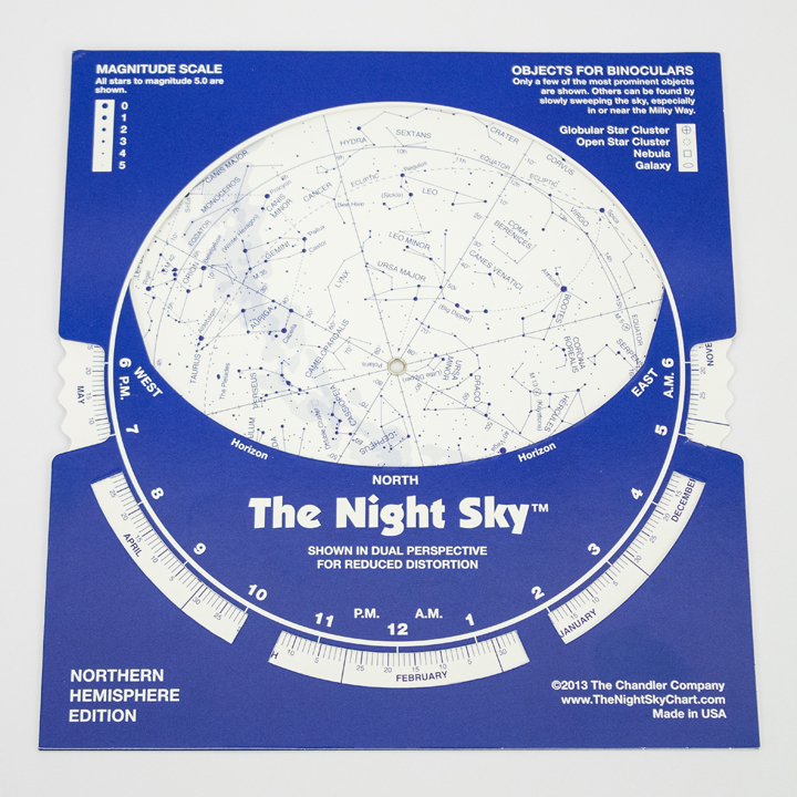 Image For The Night Sky Star Chart