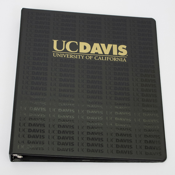 Image For Binder 1 inch Black UC Davis Repeated